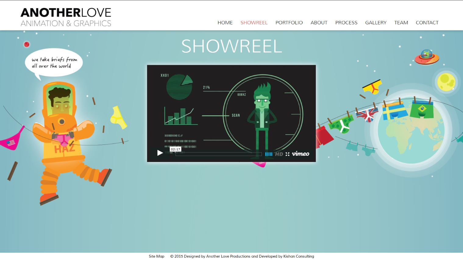 Another Love Studio - Showreel Page