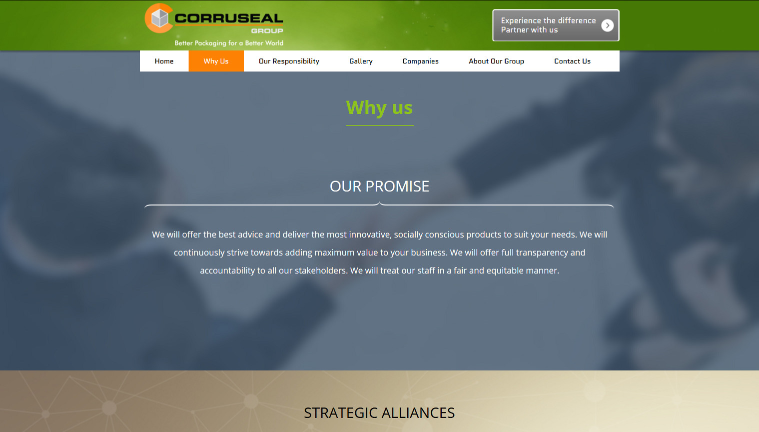 Corruseal Group - Why Us Page