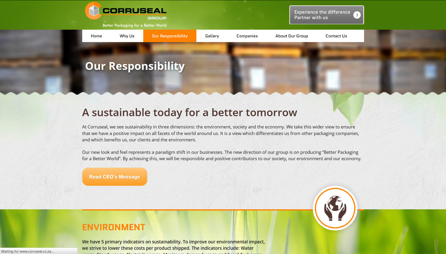 Corruseal Group - Our Responsibility Page