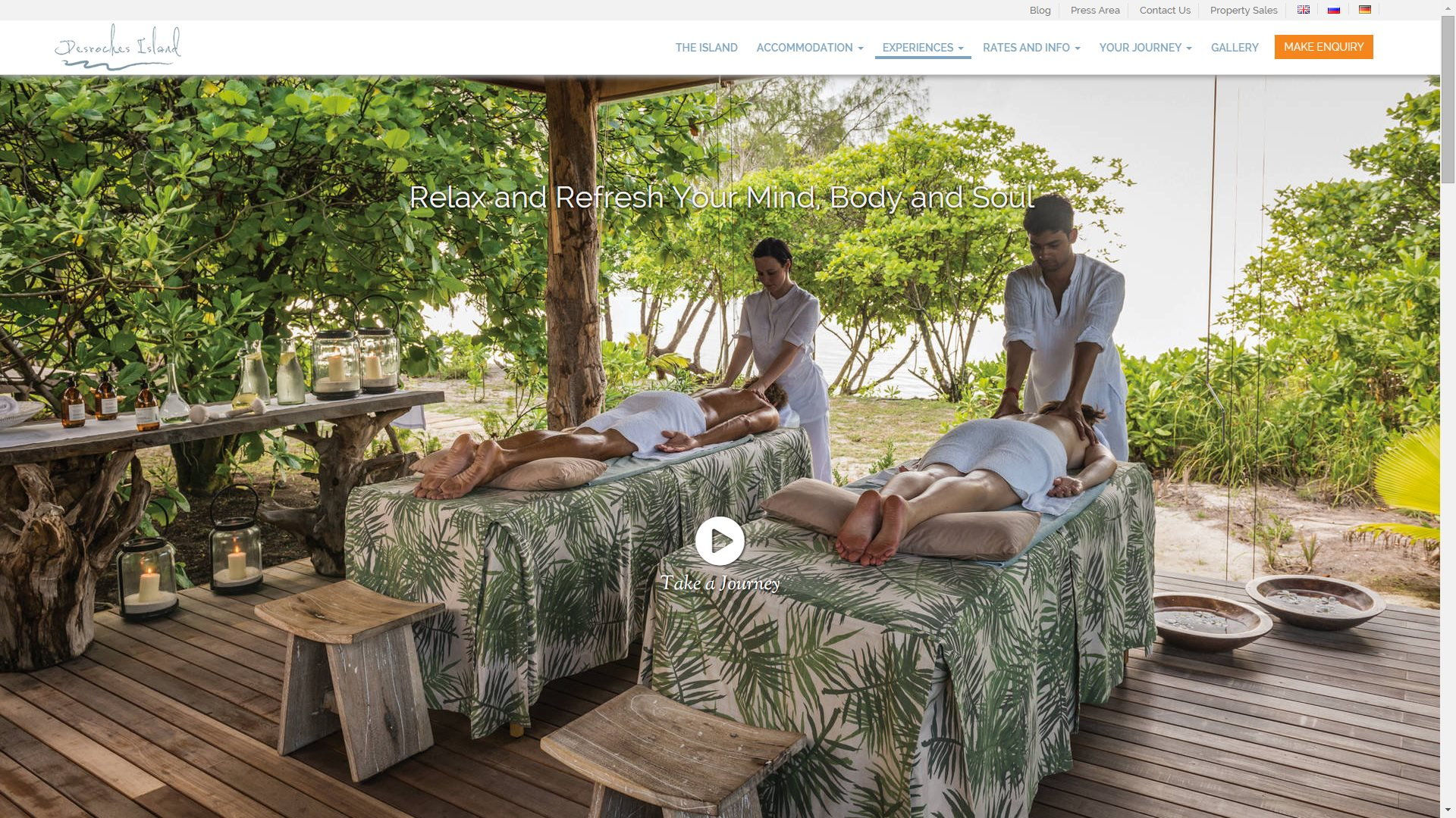 Desroches Island - Escape Spa Page